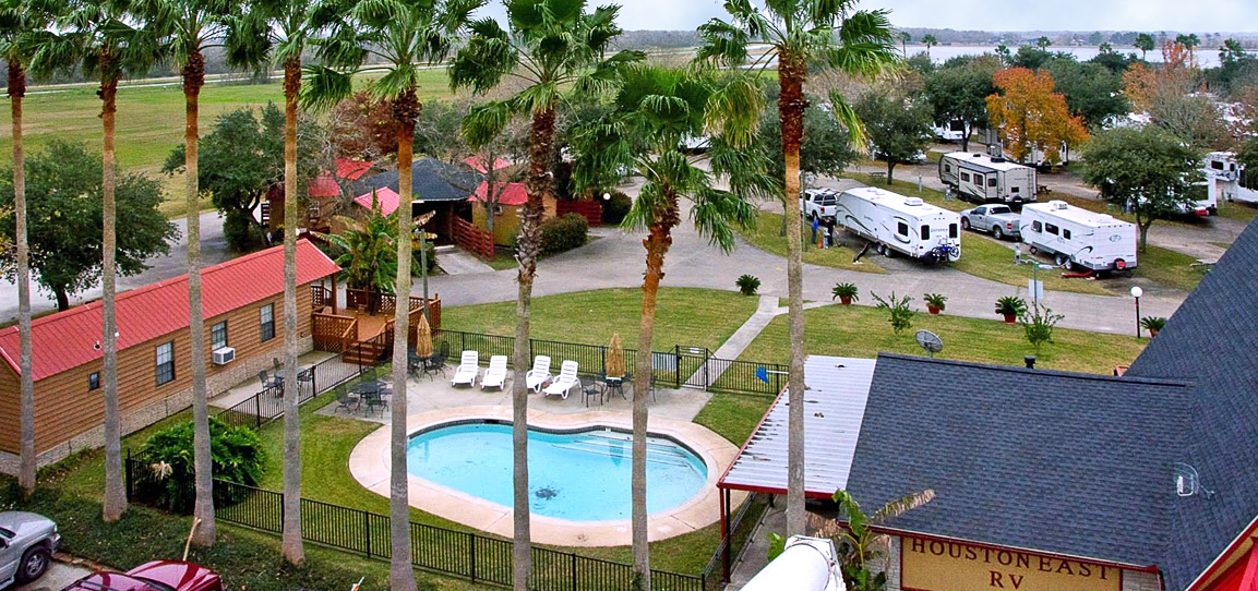 Overview of Houston East RV Resort