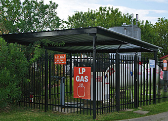 Propane Filling Station at Houston East RV Resort